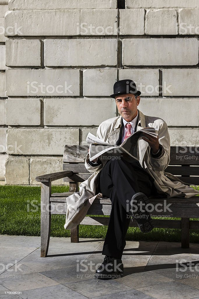Stockbroker in Saint Paul's Cathedral royalty-free stock photo