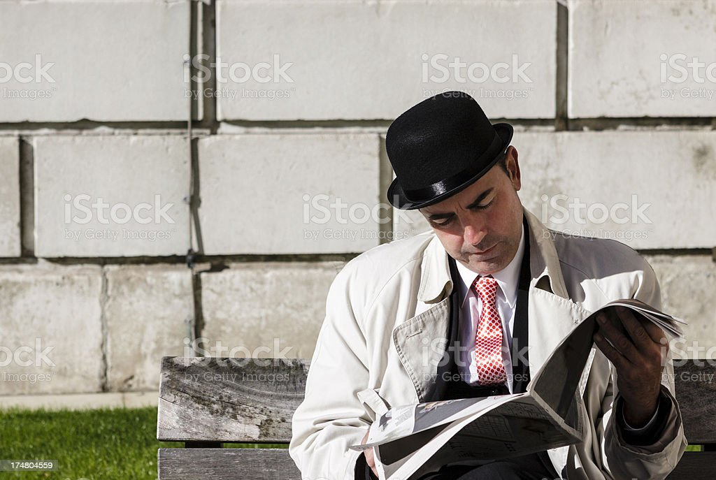 Stockbroker in Saint Paul's Cathedral stock photo