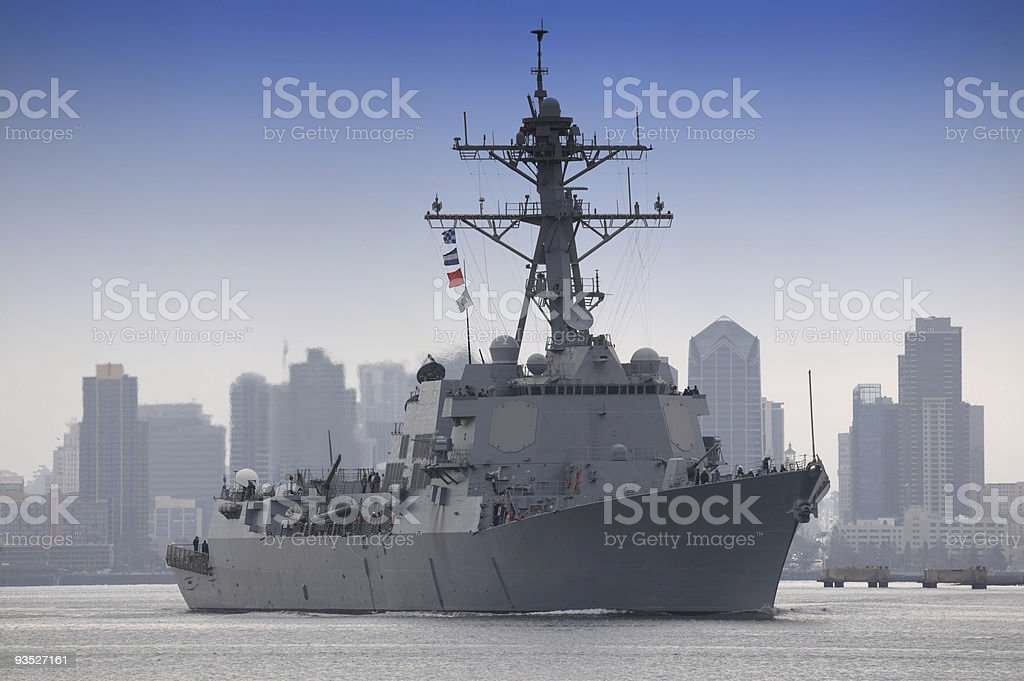 USS Stockdale (DDG-106) US Navy Destroyer royalty-free stock photo
