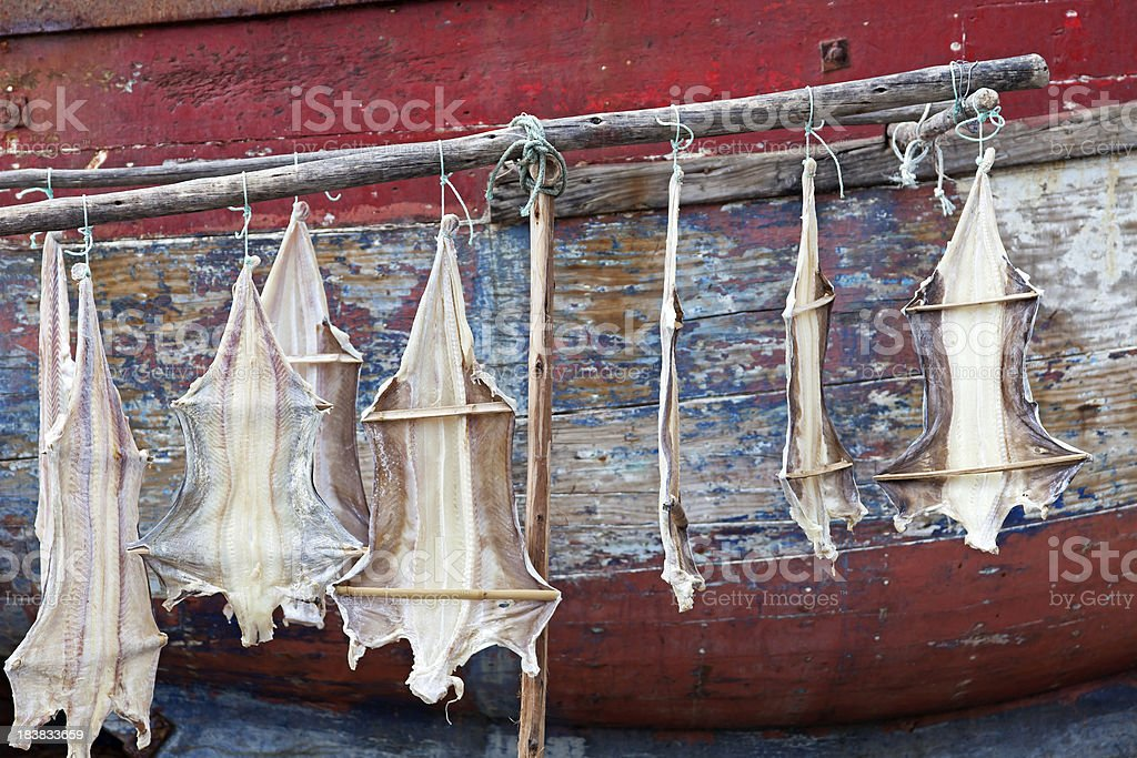 Stockfish - dried cod stock photo