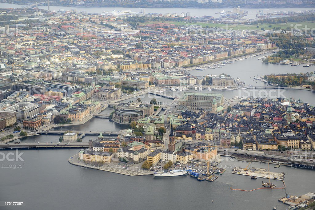 Stockholm - Aerial View royalty-free stock photo