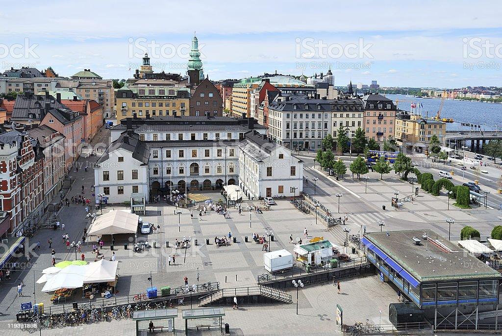 Stockholm, area Sodermalmstorg stock photo