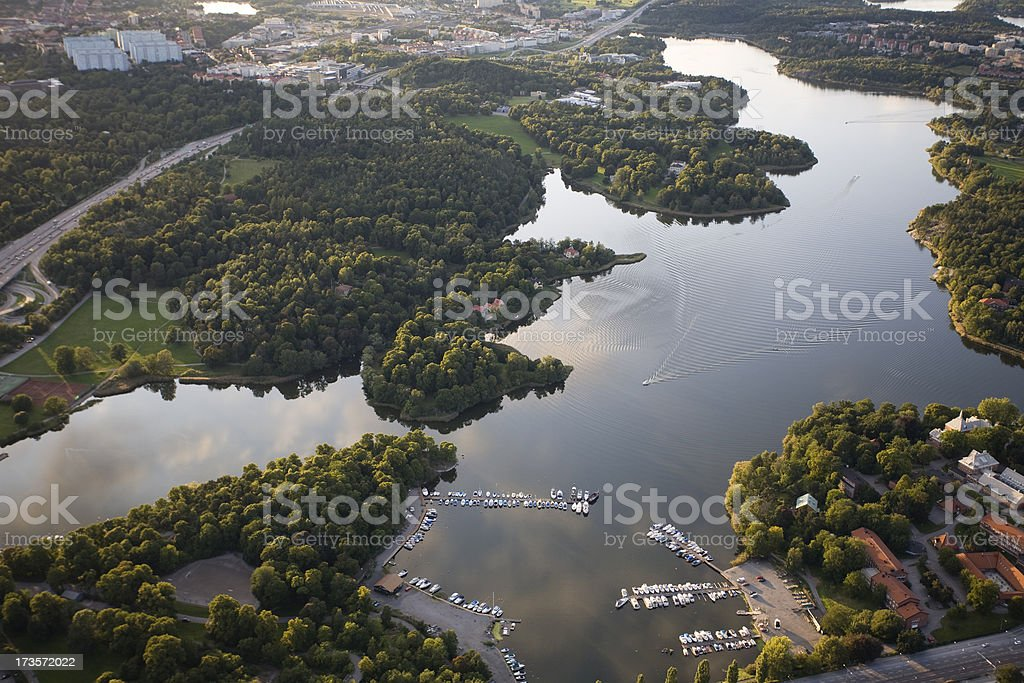 Stockholm areal view royalty-free stock photo