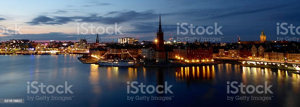 Stockholm at dusk stock photo