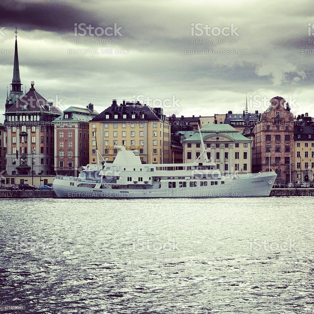 Stockholm at sunset royalty-free stock photo