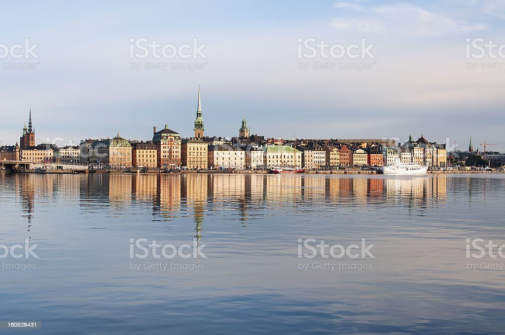 Stockholm at the morning royalty-free stock photo