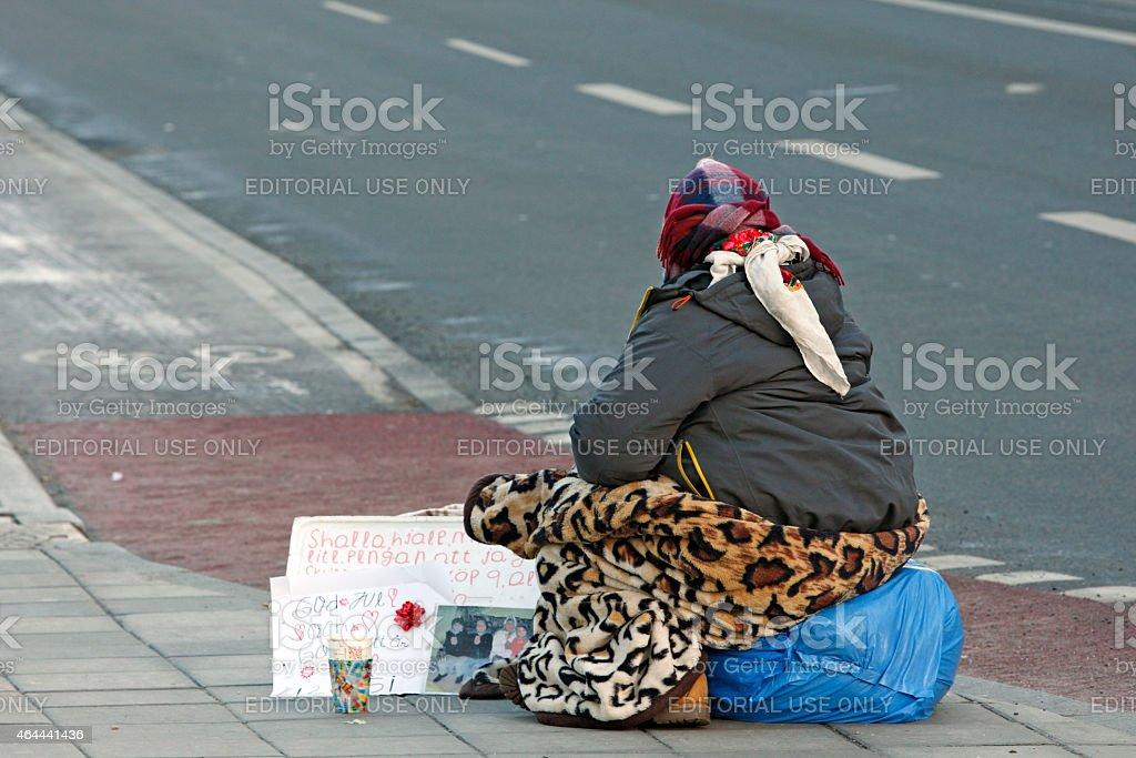Stockholm - Beging woman stock photo
