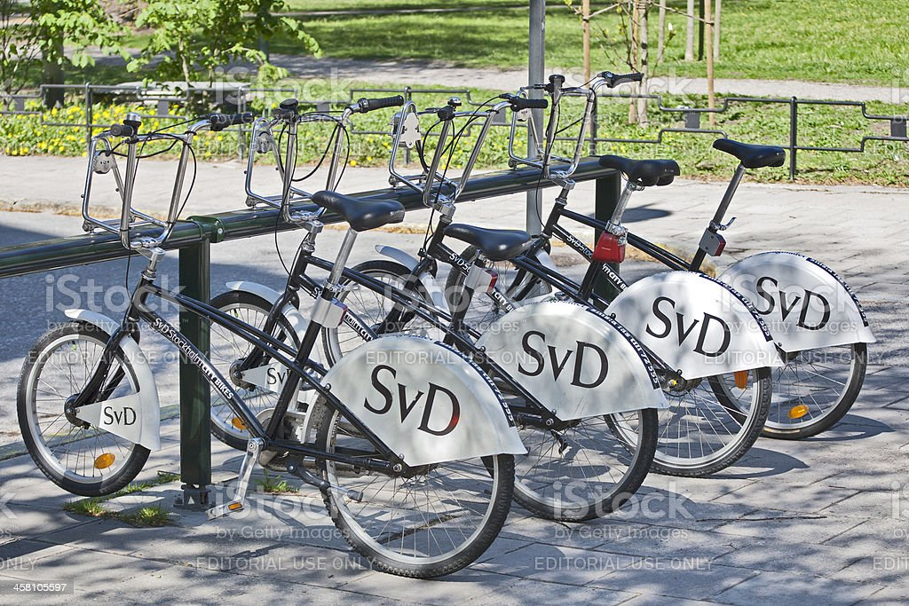 Stockholm - Bicycle Rental Station stock photo