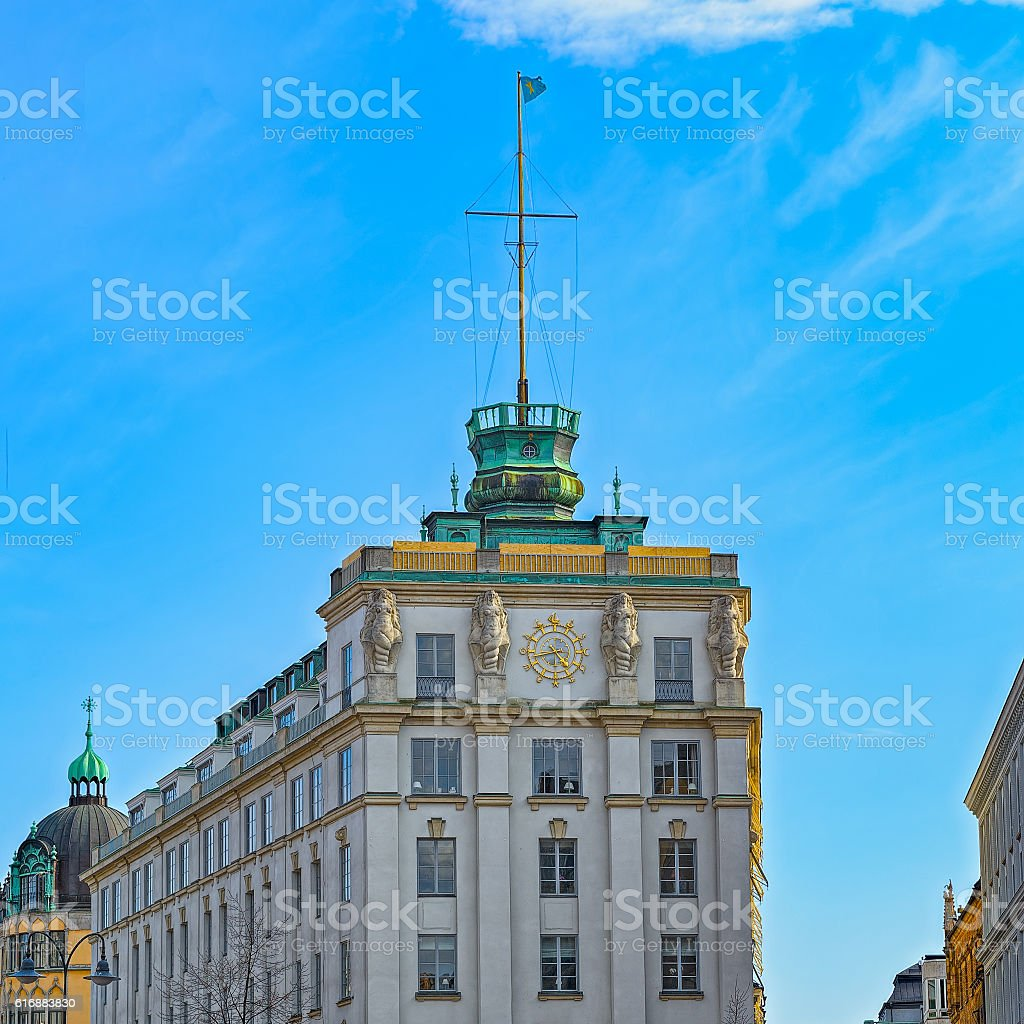Stockholm Buildings and Architecture stock photo