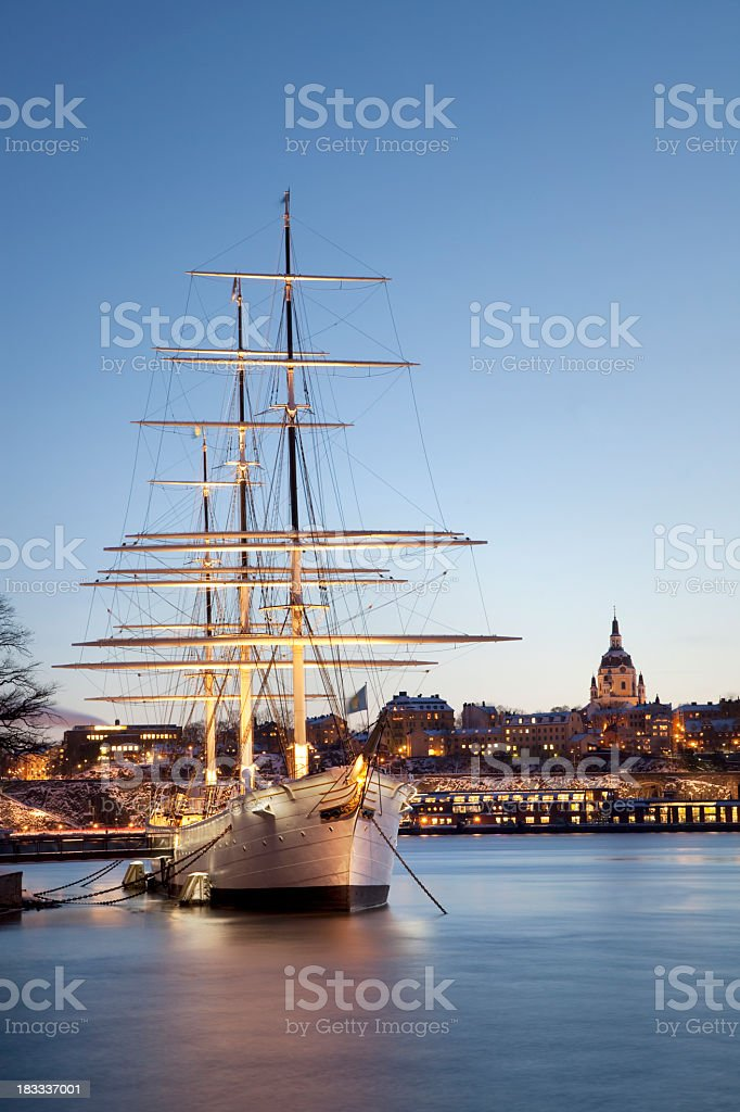 Stockholm by Night royalty-free stock photo