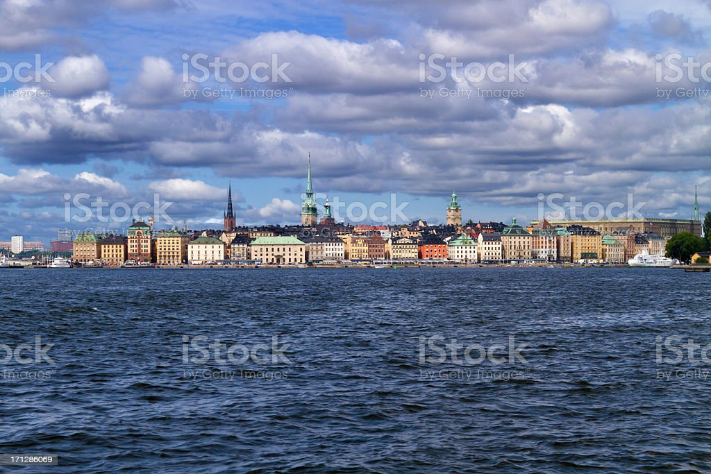 Stockholm by sea stock photo