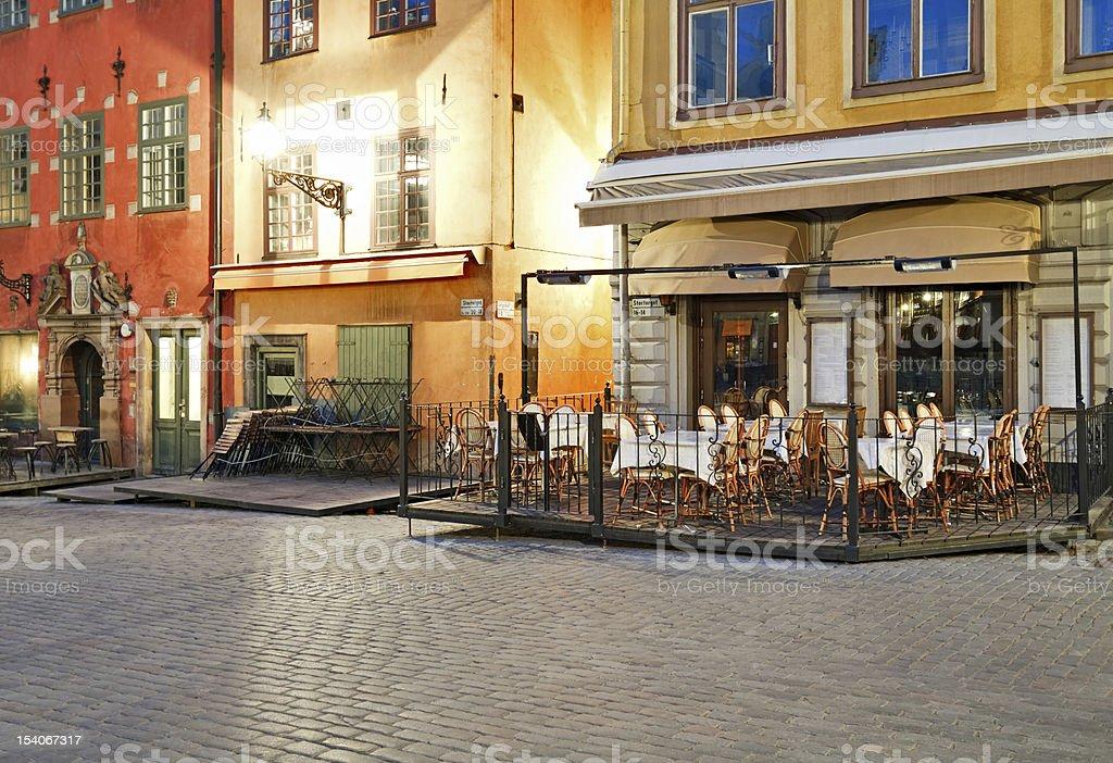 Stockholm cafe stock photo