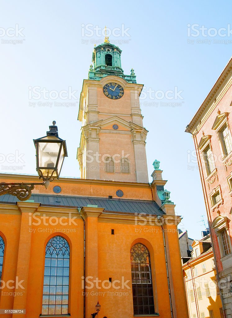 Stockholm Cathedral (Storkyrkan) in Gamla Stan (Old Town). Sweden stock photo