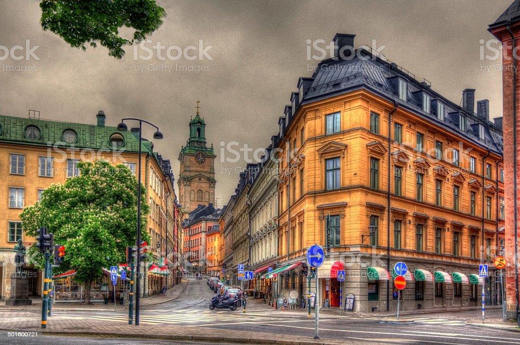 Stockholm city center - Sweden stock photo