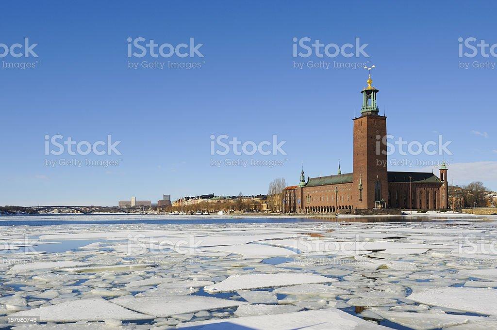 Stockholm city hall, Stadshuset stock photo