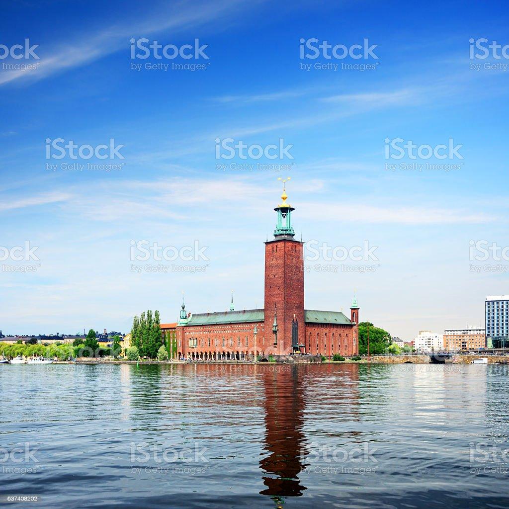 Stockholm City Hall, Sweden stock photo