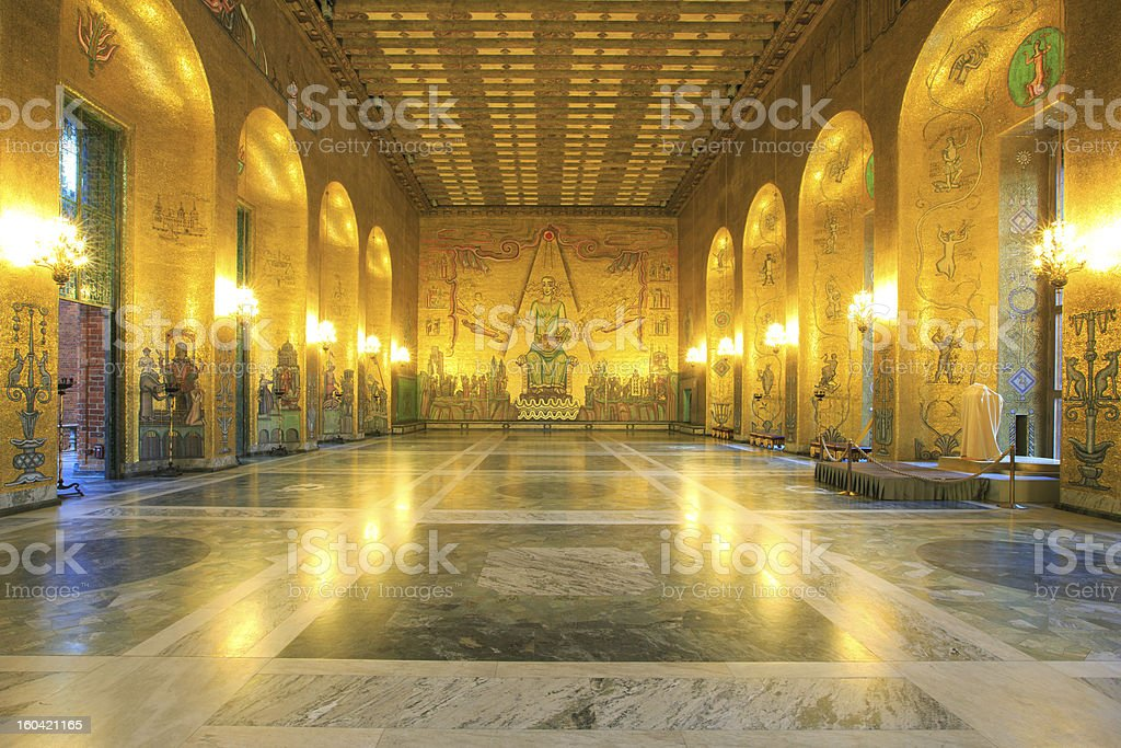 Stockholm cityhall ballroom royalty-free stock photo