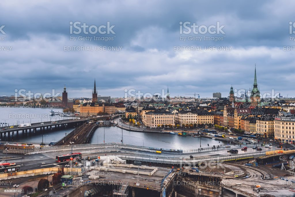 Stockholm Cityscape Panorama stock photo