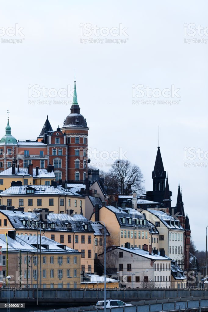 stockholm cityscape stock photo