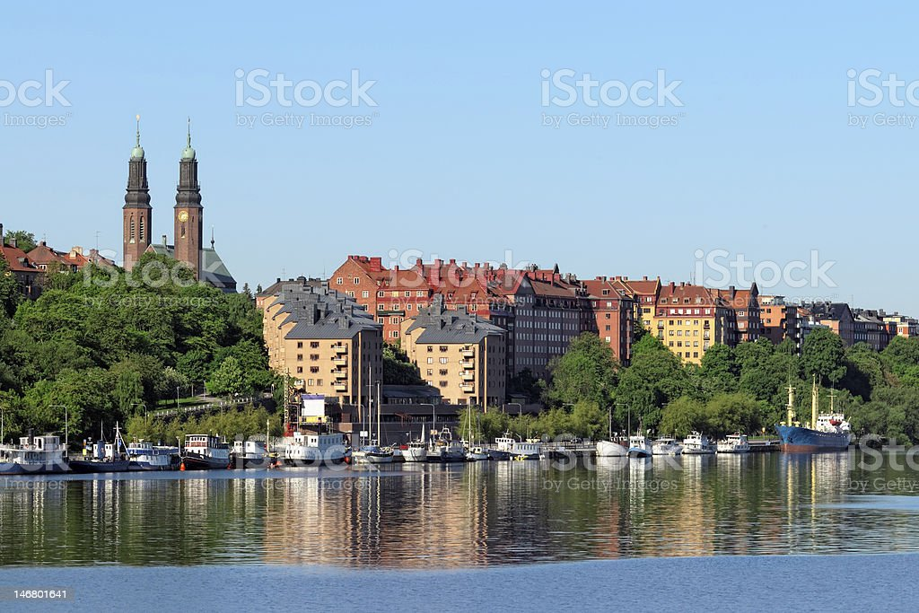 Stockholm coastline stock photo