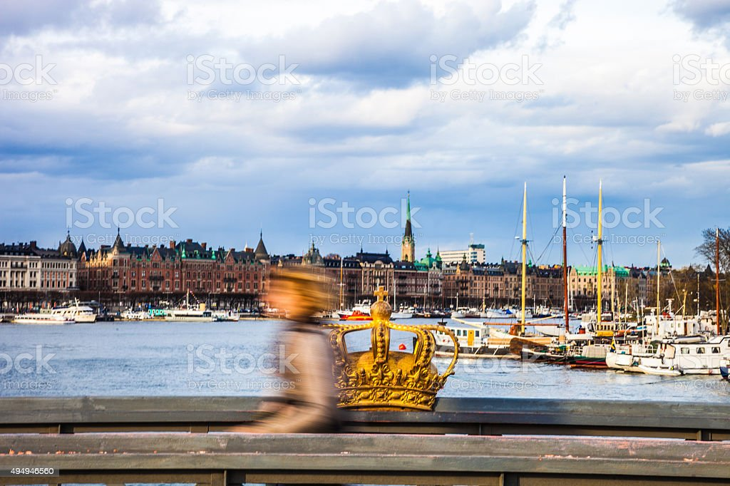 Stockholm Crown in the old area of the City stock photo
