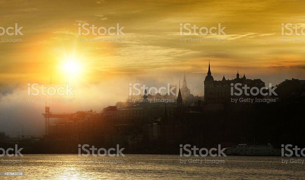 Stockholm early morning stock photo