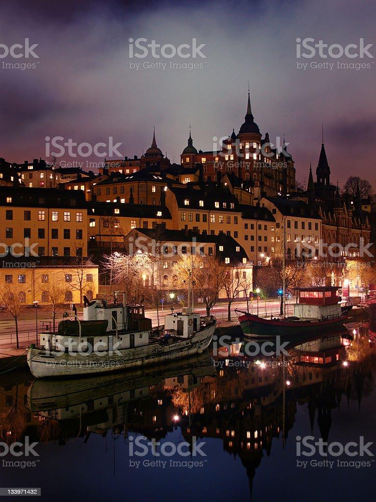 Stockholm embankment royalty-free stock photo