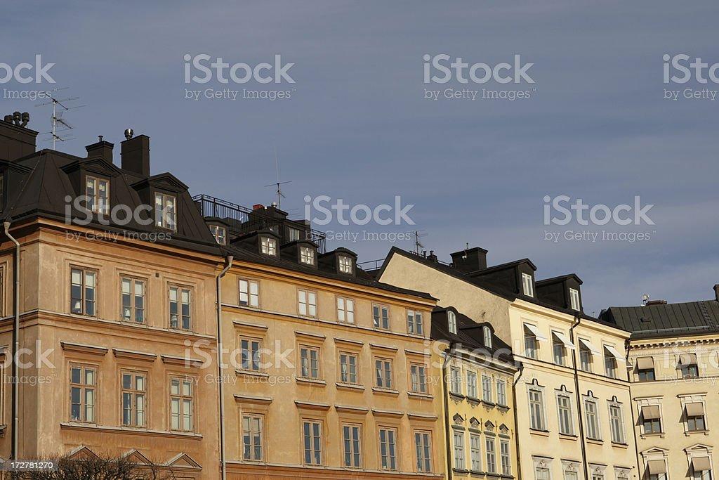 Stockholm Facade stock photo
