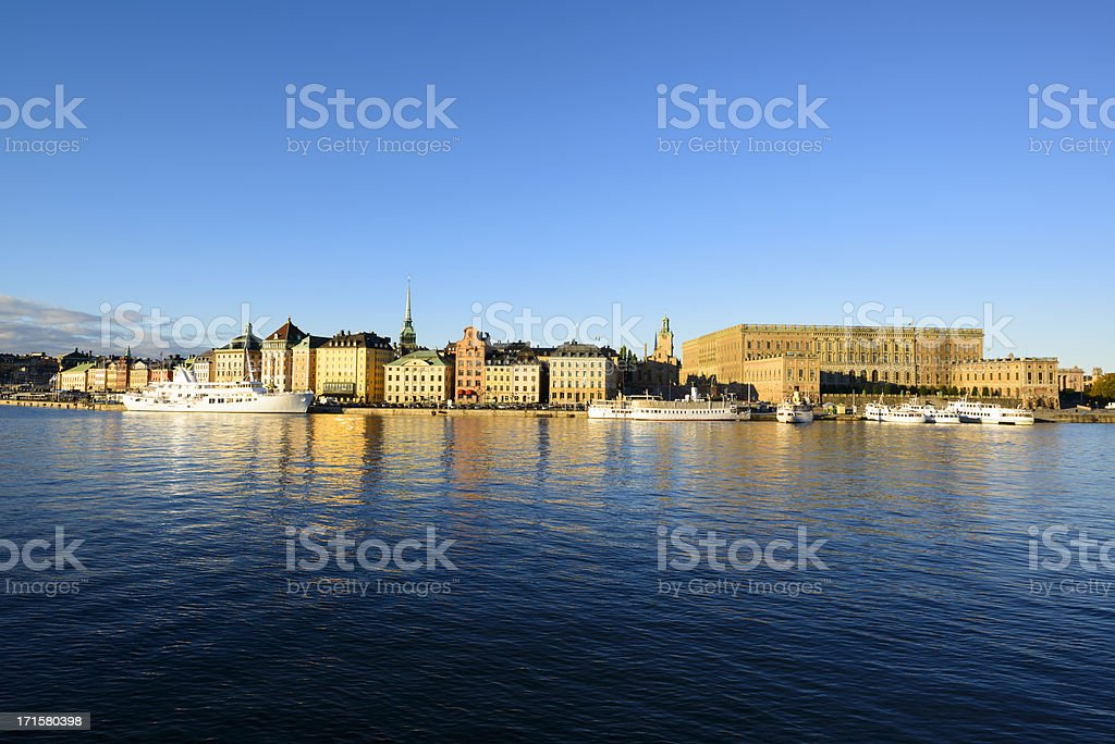 Stockholm - Gamla Stan on a beautiful morning day stock photo
