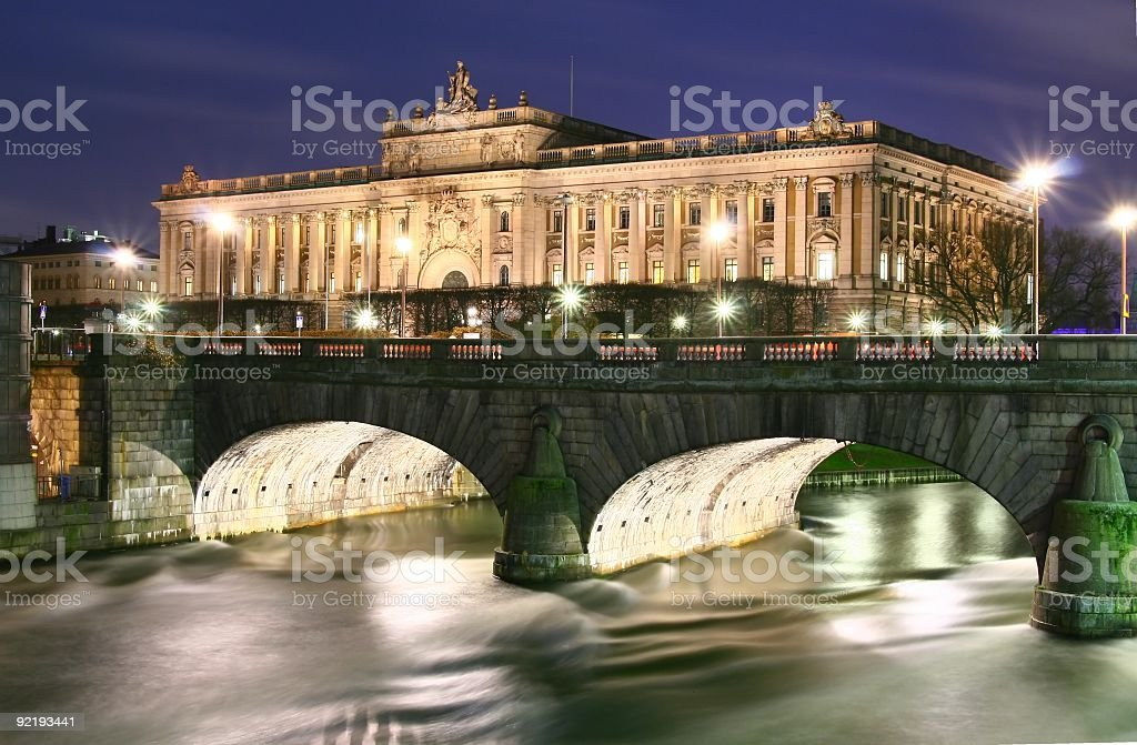 Stockholm Government Building royalty-free stock photo