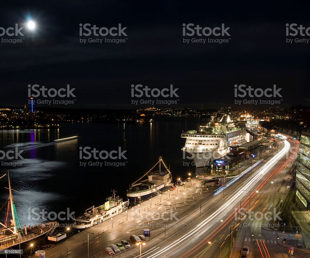 Stockholm Harbor royalty-free stock photo