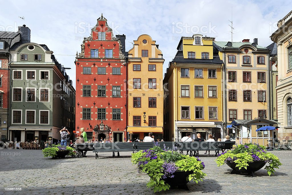 Stockholm. Heart of the Old Town stock photo