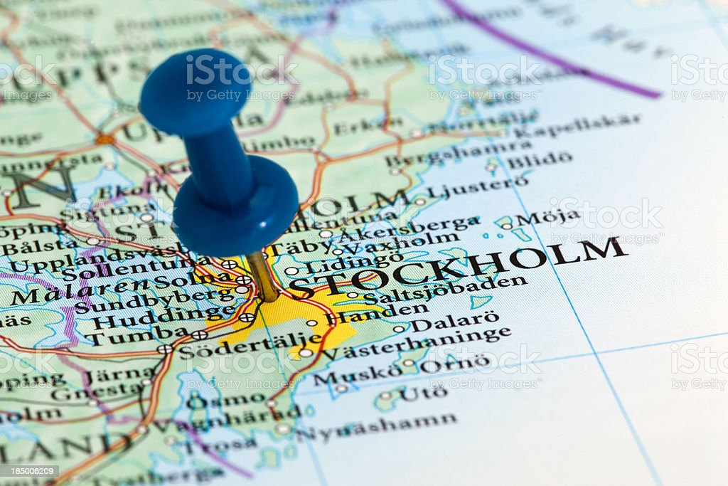 Stockholm Map - Europe, Sweden royalty-free stock photo
