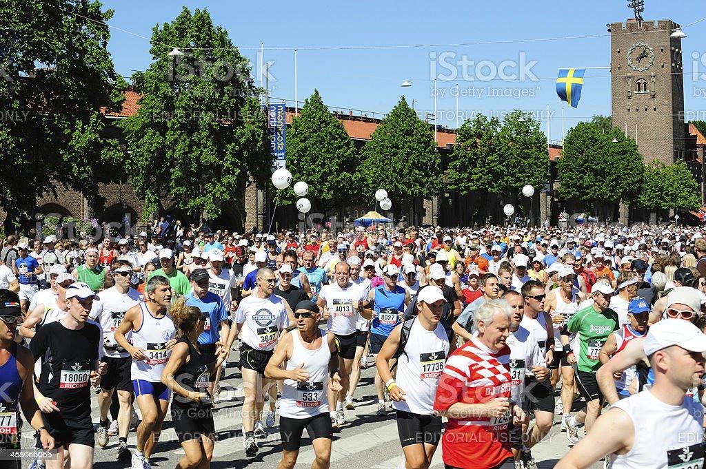 Stockholm Marathon royalty-free stock photo