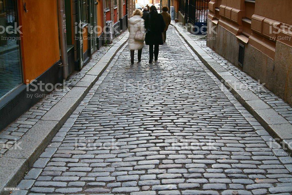 Stockholm narrow street royalty-free stock photo