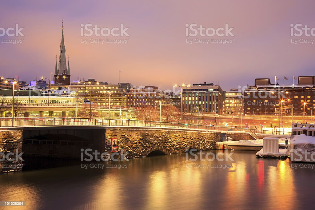 Stockholm Night royalty-free stock photo