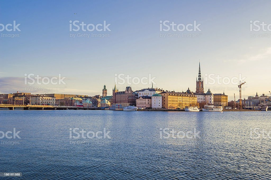 Stockholm Old Town at Dawn royalty-free stock photo