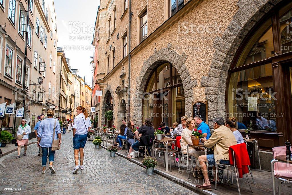 Stockholm old town Gamla stan, Sweden stock photo