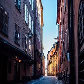 Stockholm old town street - Gamla Stan.