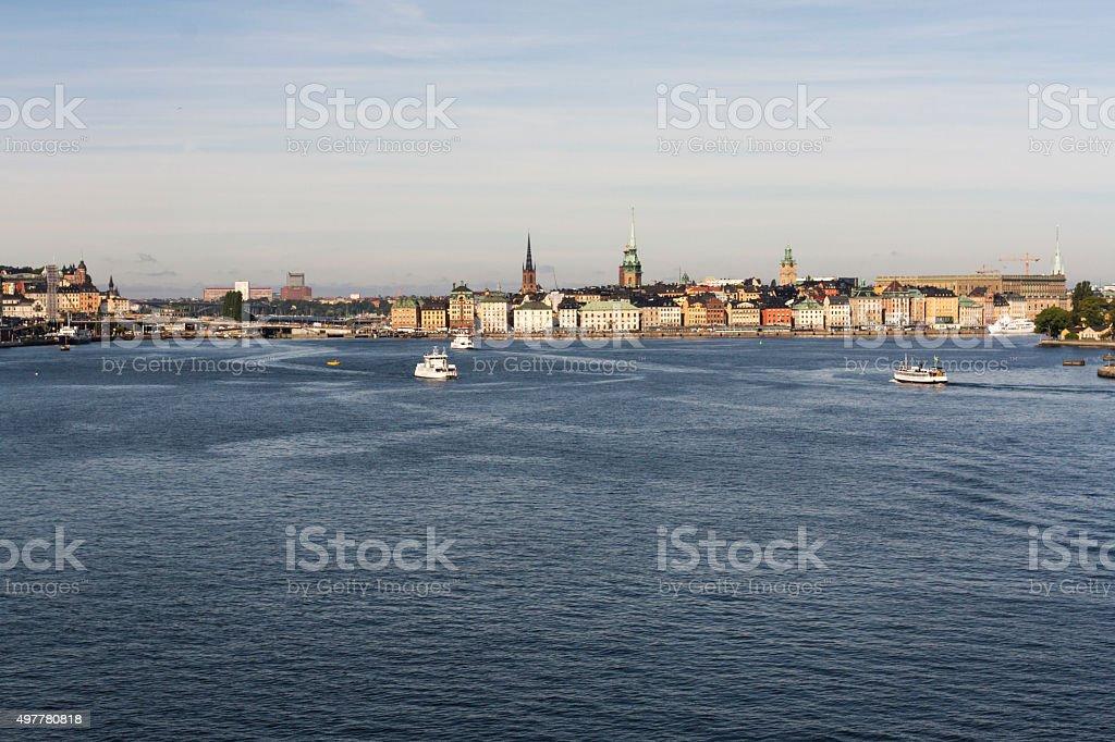 Stockholm Old Town (Gamla Stan) Waterfront stock photo