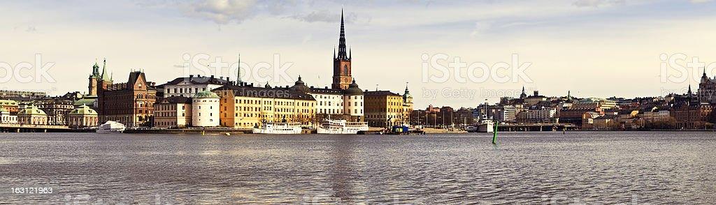 Stockholm - Panorama over Riddarholmen stock photo