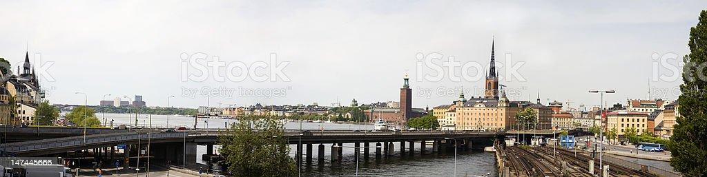 Stockholm panorama (XXL) stock photo