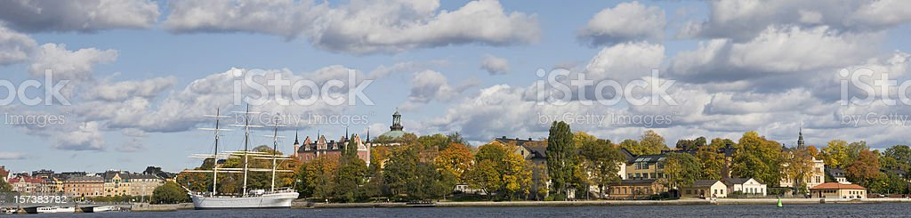 Stockholm panorama with autumn colors. (XXL) royalty-free stock photo