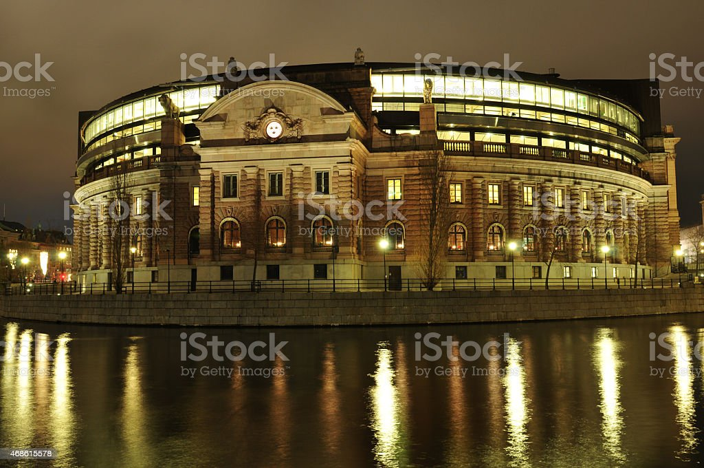 Stockholm parliament stock photo