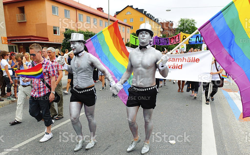 Stockholm Pride festival, people celebrating royalty-free stock photo