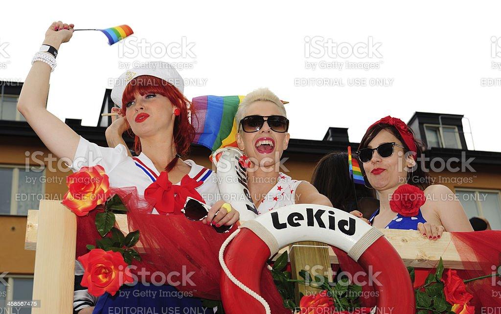Stockholm Pride festival, people celebrating royalty-free stock photo