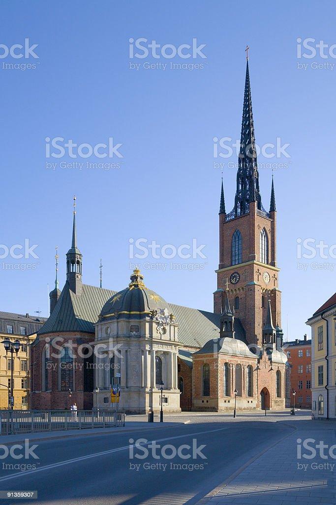 Stockholm Riddarholm church stock photo
