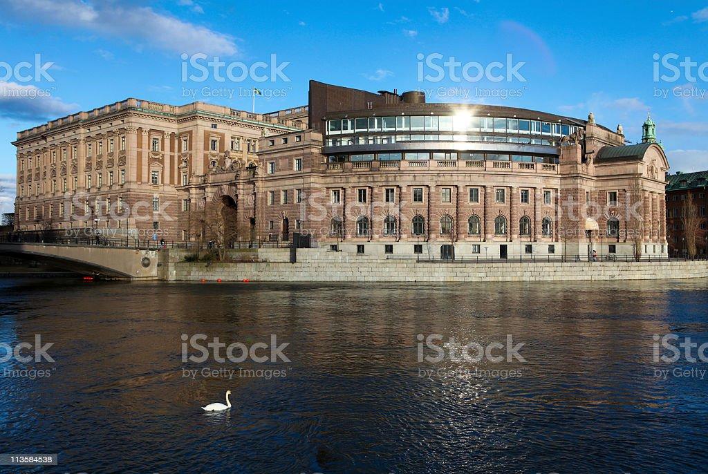 Stockholm Riksdag stock photo