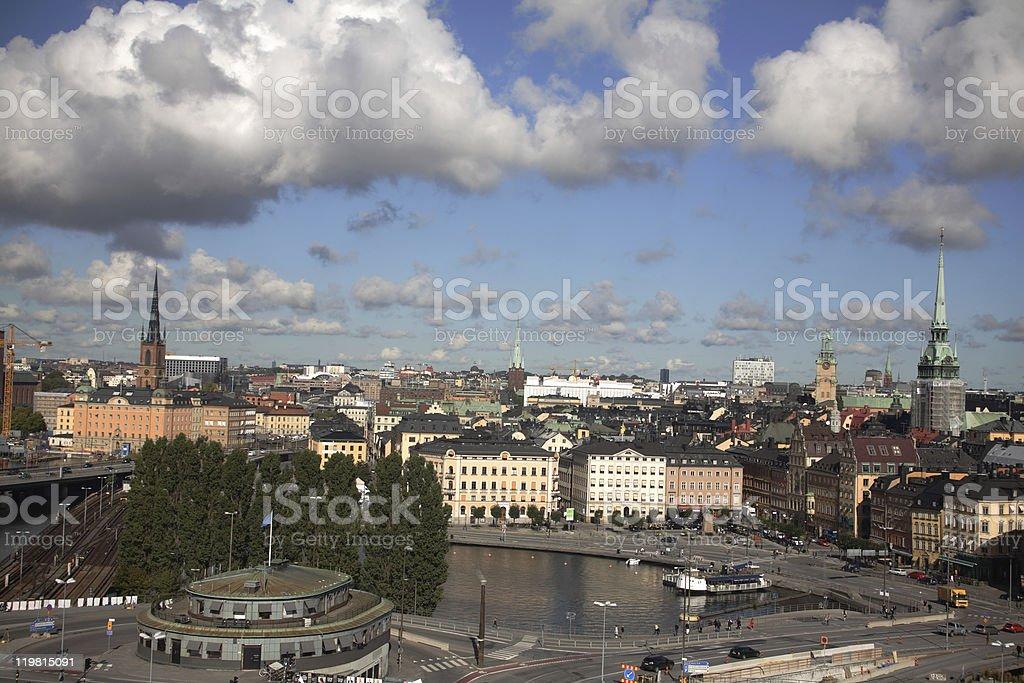 Stockholm skyline stock photo