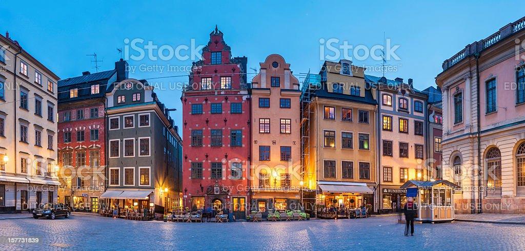 Stockholm Stortorget iconic square Gamla Stan Sweden stock photo